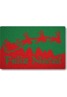 Tapete Capacho Feliz Natal Ii - Verde Bandeira