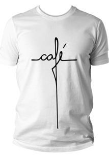 Camiseta Criativa Urbana Engraçada Café Branca