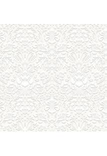 Papel De Parede Renda Branco (950X52)