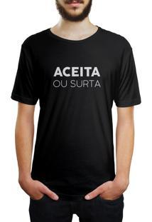 Camiseta Hunter Aceita Ou Surta Preta