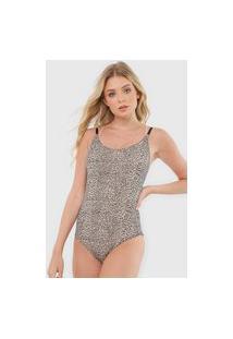 Body Calvin Klein Underwear Onça Bege