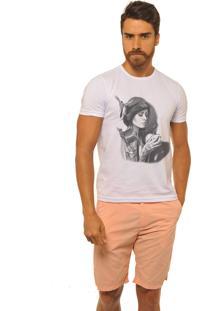 Camiseta Masculina Joss Premium Time To Coffee Branca