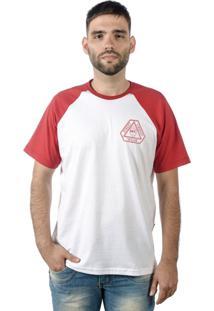 Camiseta Multcaps Mxc 010 Branca/Vermelho