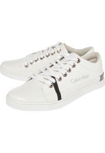 Tênis Calvin Klein Envernizado Branco