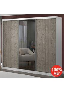 Guarda Roupa 3 Portas Com 1 Espelho 100% Mdf 1903E1 Branco/Demolição - Foscarini
