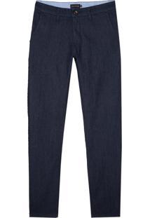 Calca Bolso Faca Jeans Textura (Jeans Escuro, 48)