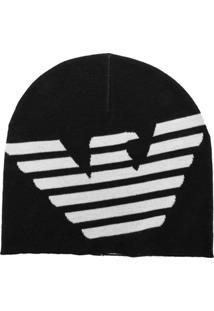 Emporio Armani Gorro De Tricô Com Logo - Verde