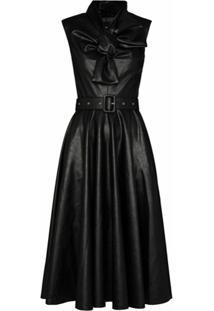 Anouki Bow Tie Midi Dress - Preto