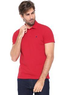 Camisa Polo Malwee Slim Básica Vermelha