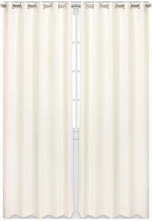 Cortina Bella Janela Duplex 4,20X2,50M Chiffon Off-White