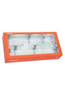 Kit Acessórios Para Banheiro 5 Peças Cromado Clic Meber