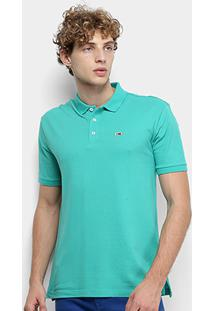 Camisa Polo Tommy Jeans Classic Solid Masculino - Masculino-Verde