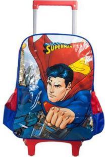 Mochilete Superman Luxcel Masculino - Masculino-Azul