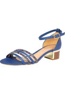 Sandália Crysalis Ravena Azul/Dourado