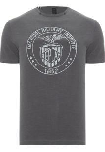 Camiseta Masculina Military - Cinza