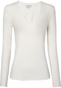 Blusa Le Lis Blanc Lana Ii Malha Off White Feminina (Dust, Gg)