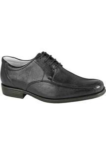 Sapato Social Couro Derby Sandro Moscoloni Hudson Masculino - Masculino-Preto