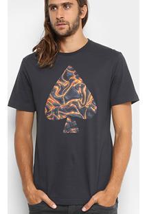 Camiseta Mcd Regular Vulcano Masculina - Masculino-Preto