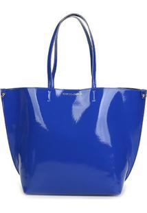Bolsa Loucos & Santos Sintetico Verniz Soft Feminina - Feminino-Azul