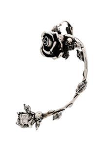 Alexander Mcqueen Brinco Único Rose - 0446 Metallic