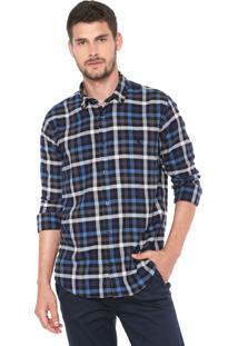 Camisa Reserva Reta Tallin Azul/Preta