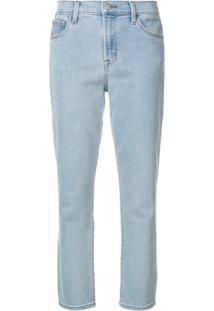369e81f547e51 ... J Brand Calça Jeans Cropped Slim  Ruby  - Azul