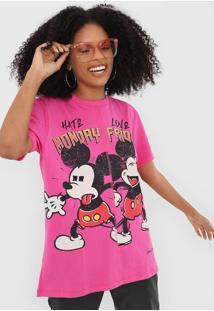 Camiseta Colcci Mickey Rosa
