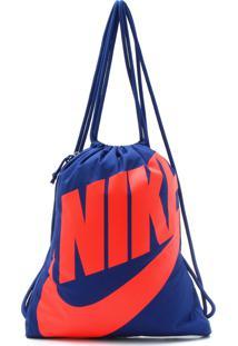 Mochila Nike Sportswear Gymsack Heritage Azul