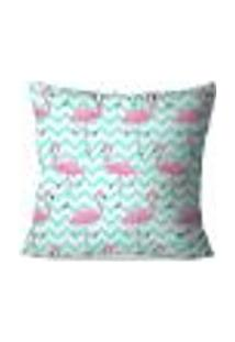 Capa De Almofada Avulsa Flamingos Love 45X45Cm