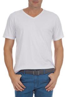 Camiseta Masculina Branca Lisa Upper - G