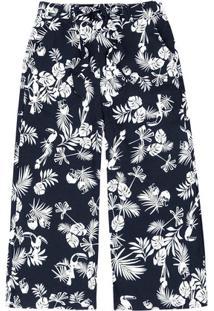 Calça Pantacourt Clochard Feminina Em Tecido De Viscose Texturizado