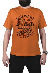 Camiseta Manga Curta Bleed American Octopus Laranja