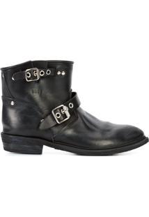 Golden Goose Deluxe Brand Ankle Boot De Couro - Preto