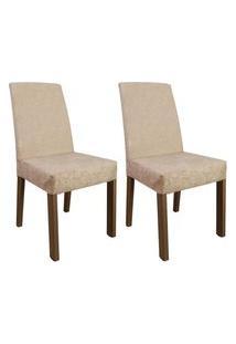 Kit 2 Cadeiras De Jantar 4255 Madesa - Rustic/Imperial Marrom