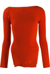 Alexander Wang Suéter De Tricô Canelado - Vermelho