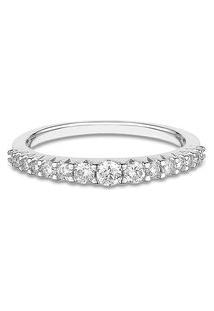 Anel Ouro Branco Diamantes