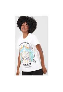Camiseta Colcci Araras Off-White