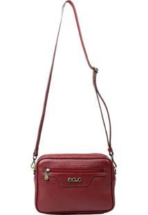 Bolsa Em Couro Recuo Fashion Bag Vinho