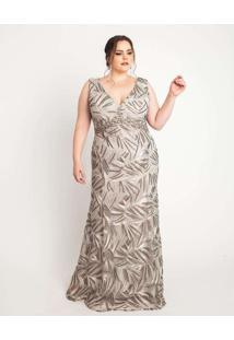 Vestido Almaria Plus Size Pianeta Cinza