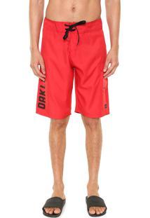 Bermuda Água Oakley Pocket Vermelha