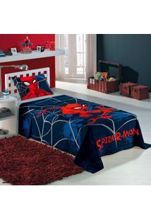 Jogo De Cama Estampado Spider Man 1,50X2,10 - Lepper - Azul Marinho