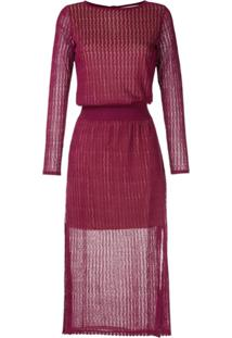 Cecilia Prado Vestido Midi Iría De Tricô - Roxo