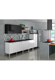 Cozinha Compacta Play 5 Pt 2 Gv Branca E Preta