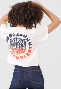 Camiseta John John Tiger Off-White