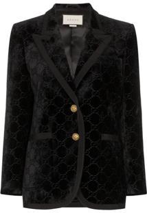 Gucci Gg Supreme Pattern Blazer - Preto