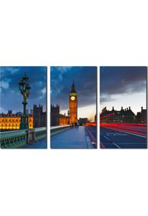 Quadro Londres Ponte Com Big Ben Ao Fundo