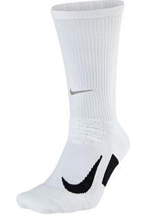 Meia Nike Dri-Fit Elite Running Cano Alto - Unissex-Branco