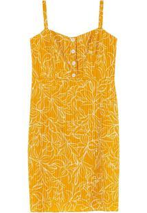Vestido Amarelo Laise Estampado