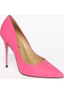 Scarpin Em Couro Acamurã§Ado- Pink- Salto: 11,5Cmcarrano