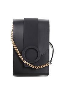Bolsa Petite Jolie Mini Bag J-Lastic Phone Case Plus Feminina - Feminino-Preto